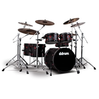 Ddrum Hybrid 6-piece Black and Red Shells and Triggers