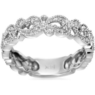 SummerRose, 14k White Gold 0.32ct. Pave-set Diamond Fashion Band (H-I, SI1-SI2)