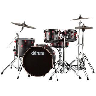 Ddrum Hybrid 5-piece Player Kit Red/ Black