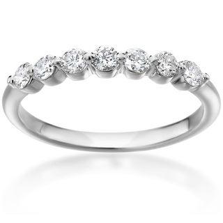 SummerRose 14k White Gold Shared Prong 1/3ct. TDW Diamond Ring (H-I, SI1-SI2)