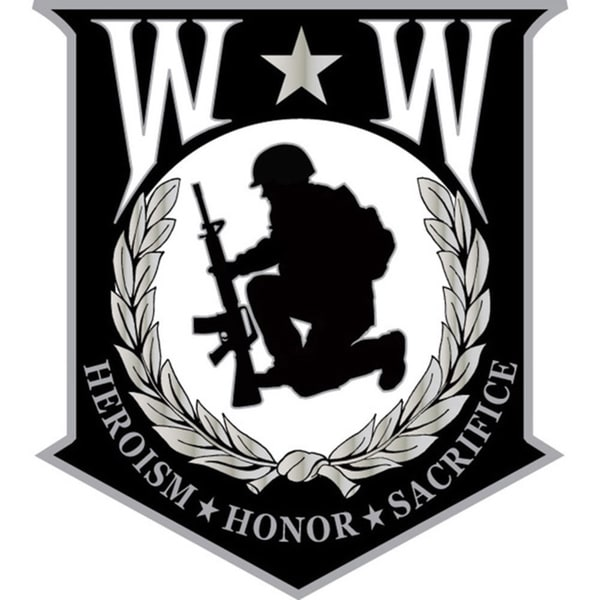 Wounded Warrior Shield Small Pin