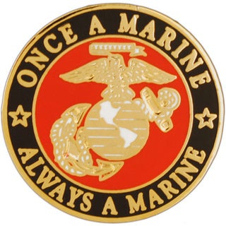 Usmc Once A Marine Always A Marine Pin image