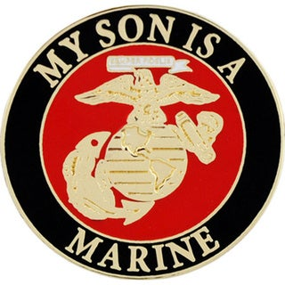 USMC My Son Is A Marine Pin