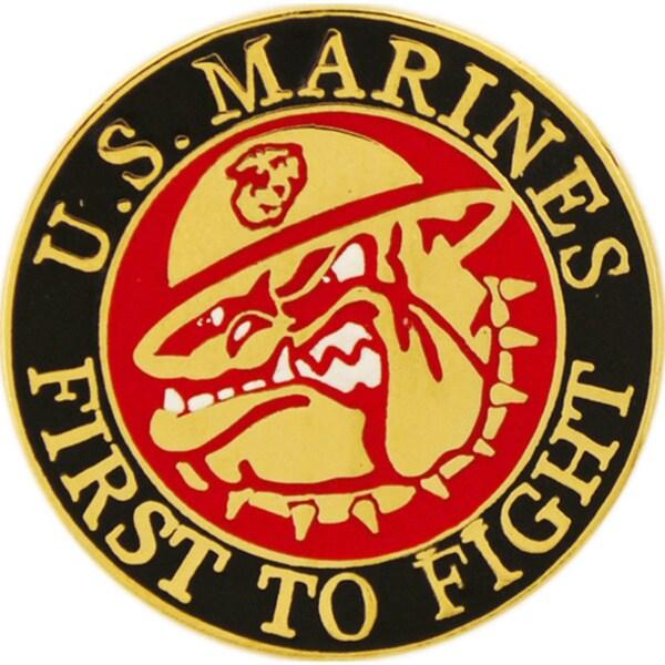 United States Marine Corps Bulldog Mascot Pin