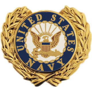 United States Navy Logo Wreath Pin