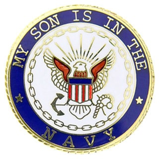 USN My Son Is In The Navy Pin
