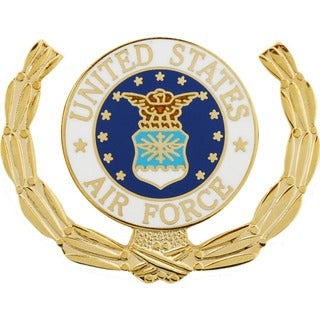 United States Air Force Logo Wreath Pin