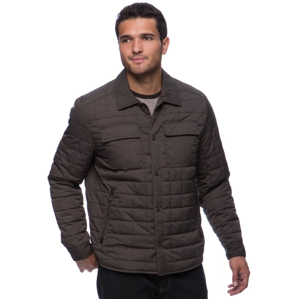 Kenneth Cole Men's Quilted Center Button Closure Jackets