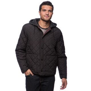 Kenneth Cole Men's Quilted Polyfill Hooded Jacket