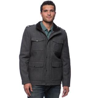 Kenneth Cole Men's Melton Wool Front Pocket Coat