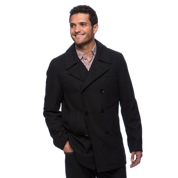 Kenneth Cole Men's Navy Double Breasted Peacoat (As Is Item)