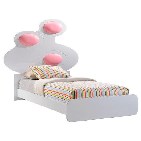 Lola High Gloss Bed with Cushion Headboard Detail