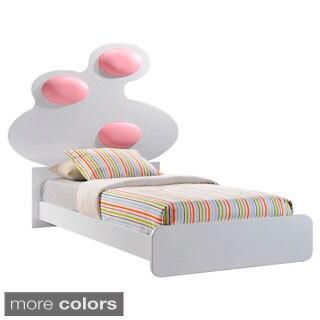 Lola High Gloss Bed with Cushion Headboard Detail