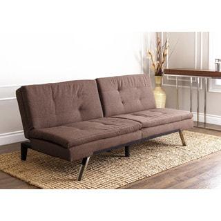 ABBYSON LIVING Monarch Coffee Fabric Futon Sleeper Sofa Bed