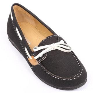 Coshare Women's Lulu-11 Faux Suede Boat Shoes