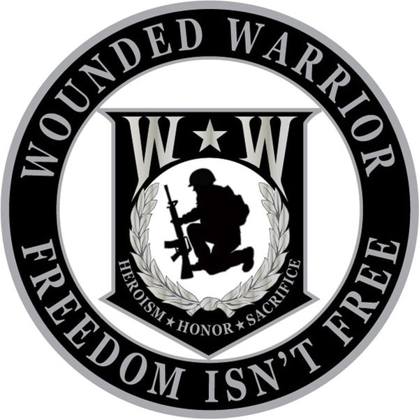 Wounded Warrior Round Pin