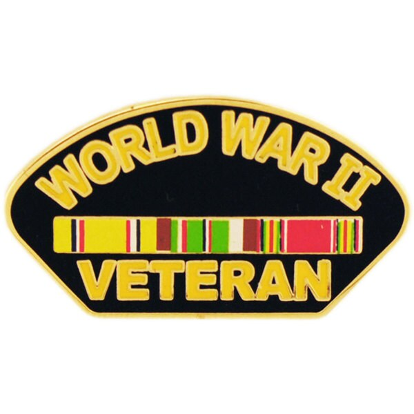 WWII Veteran Pin With Ribbon