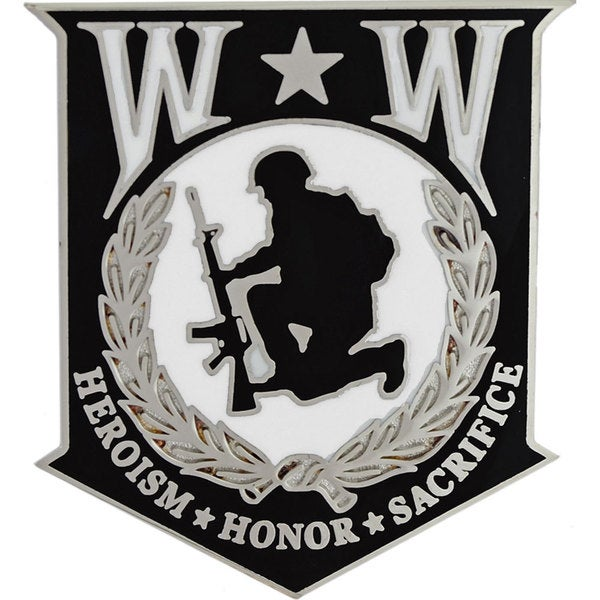 Wounded Warrior Shield Medium Pin