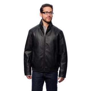 Cole Haan Men's 26 3/4-inch Shirt Collar Bomber Jacket with Zip-out Vest