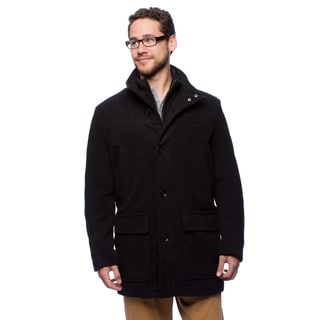 Cole Haan Men's 34-inch Knit Collar Trim Car Coat