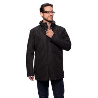 Cole Haan Men's 32-inch Stand Collar Faux Fur Vest Zip-front Jacket