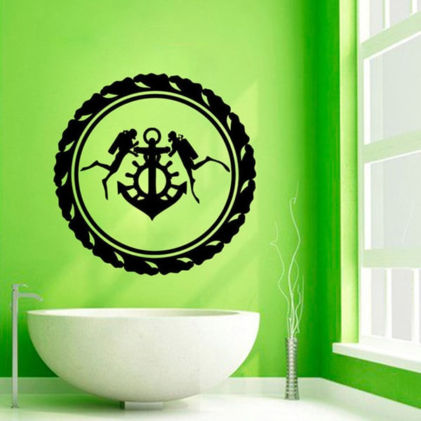 Divers Anchor Bathroom Sticker Vinyl Wall Art