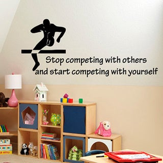 Running Track and Field Quote Sticker Vinyl Wall Art