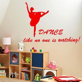 Red Dancers Ballet Sticker Vinyl Wall Art
