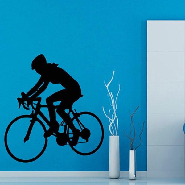 Cycling Bicycle Sticker Vinyl Wall Art