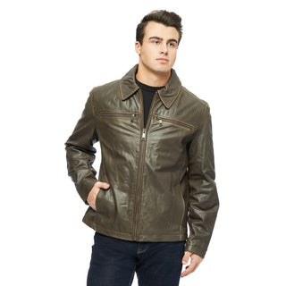 Marc New York Men's Romney Distressed Leather Jacket