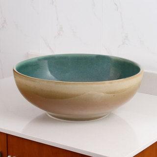 ELIMAX'S 2025 Multicolor Glaze Porcelain Ceramic Bathroom Vessel Sink