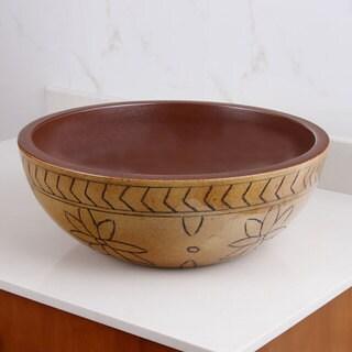 ELIMAX'S 2020 Petal Pattern Porcelain Ceramic Bathroom Vessel Sink