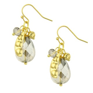Saachi Glass Bead Teardrop Pea Pod Earrings (India)