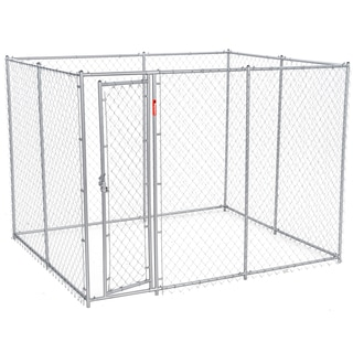Lucky Dog 2-in-1 6.5-foot/ 10-foot Galvanized Chain Link Kennel