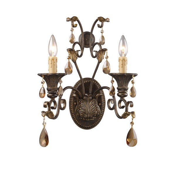 Rochelle 2-light Sconce With Amber Crystal
