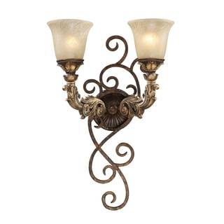Regency Collection 2-light Wall Sconce In Burnt Bronze