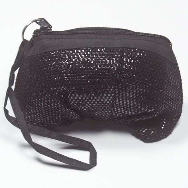 Black Recycled Tape Wristlet (India)