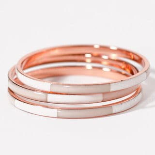 Peach Nautical Rose Bangles (India)