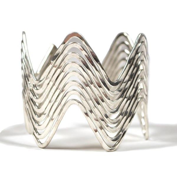 Silver Wave Cuff (India)