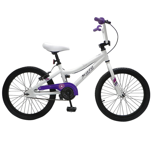 Piranha 20-inch Girls White Bike