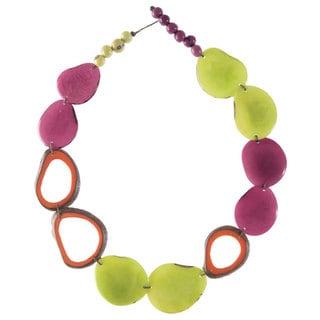 Faire Collection Ventana Tagua Necklace in Cherry Limeade (Ecuador)