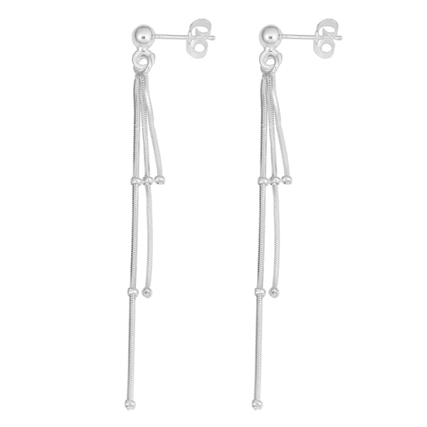 Fremada Sterling Silver Fancy Tassel Drop Earrings