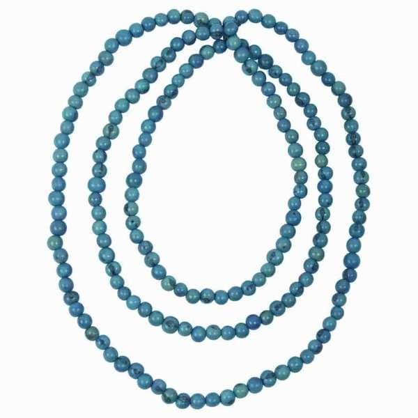 Faire Collection Acai Seed Rope Necklace in Turquoise (Ecuador)
