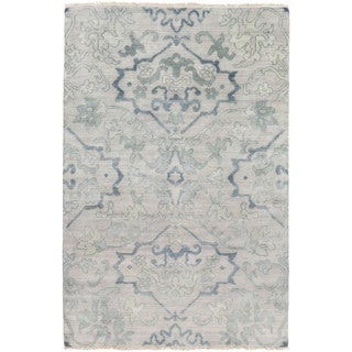 Hand-Knotted Keswick Floral New Zealand Wool Rug (3'6 x 5'6)