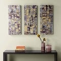Madison Park Gilded Violet Gel Coat Printed Canvas 3-piece Set