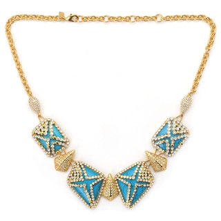 De Buman 18K Yellow Goldplated & Turquoise or 18K Rose Goldplated & Mother-of-Pearl Necklace