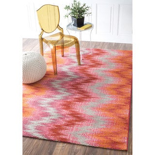 nuLOOM Transitional Abstract Ikat Multi Rug (5'3 x 7'7)