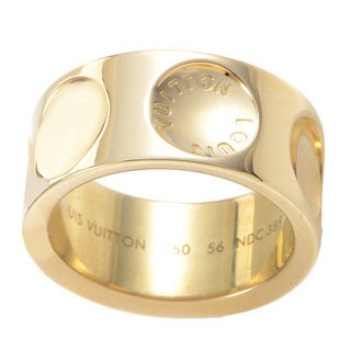 Louis Vuitton Empreinte Large 18k Yellow Gold Estate Ring (Size 8.25)