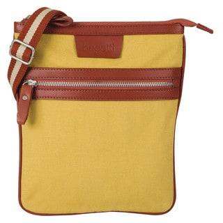 Bugatti Phoenix Canvas and Leather Trim Messenger Bag