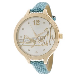 FORTUNE NYC Women's Goldtone Case Grasshopper Watch